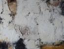 Komposition 10.004.2 - Mischtechnik auf Leinwand - 80x80