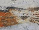 Komposition 10.005.1 - Mischtechnik auf Leinwand - 40x120
