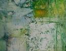 Komposition 10.009 - Mischtechnik auf Leinwand - 70x140