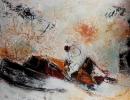Komposition 10.030 - Mischtechnik auf Leinwand - 120x90