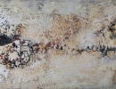 Komposition 10.049 - Mischtechnik auf Leinwand - 140x80