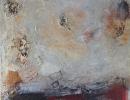 Komposition 10.051 - Mischtechnik auf Leinwand - 100x100