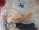 Komposition 10.052 - Mischtechnik auf Leinwand 100x100