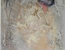 Komposition 10.057 - Mischtechnik auf Leinwand - 40x120