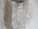 Komposition 10.065 - Mischtechnik auf Leinwand - 40x120