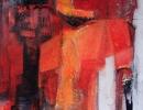 Komposition 9.083 - Mischtechnik auf Leinwand - 120x120