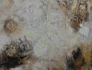 Komposition 9.030 - Mischtechnik auf Leinwand - 100x100