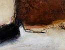Komposition 9.095 - Mischtechnik auf Leinwand - 140x60