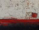 Komposition 9.191 - Mischtechnik auf Leinwand - 80x80