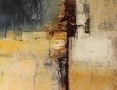 Komposition 9.098 - Mischtechnik auf Leinwand - 80x100