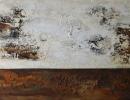 Komposition 10.040 - Mischtechnik auf Leinwand - 140x80