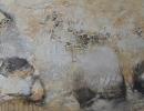Komposition 10.041 - Mischtechnik auf Leinwand - 140x80