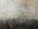 Komposition 10.070 - Mischtechnik auf Leinwand - 80x140