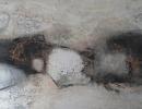 Komposition 10.085 - Mischtechnik auf Leinwand -160x80