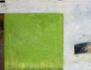 Komposition 10.096 - Mischtechnik auf Leinwand - 140x80