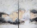 Komposition 10.112.1 - Mischtechnik auf Leinwand - 2x80x140