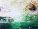 Komposition 9.176 - Mischtechnik auf Leinwand - 100x100