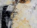 Komposition 10.003 - Mischtechnik auf Leinwand - 140x70