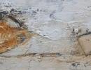 Komposition 10.005.2 - Mischtechnik auf Leinwand - 40x120