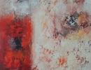 Komposition 9.028 - Mischtechnik auf Leinwand - 80x100