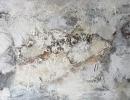 Komposition 10.077 - Mischtechnik auf Leinwand - 140x70
