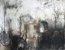 Komposition 10.088 - Mischtechnik auf Leinwand - 80x140