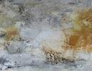 Komposition 10.089 - Mischtechnik auf Leinwand - 140x70