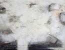 Komposition 10.094 - Mischtechnik auf Leinwand - 140x80