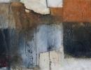 Komposition 10.095 - Mischtechnik auf Leinwand - 80x100